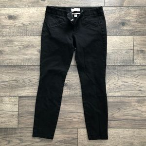 GAP ultra-skinny black cropped pants
